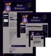 Halloween Site Template 3 Private Label Rights