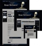 Halloween Site Template 1 Private Label Rights