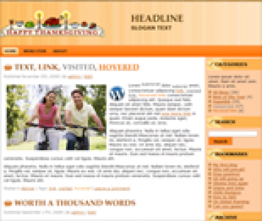 Thanksgiving Wordpress Themes