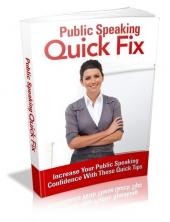 Public Speaking Quick Fix Private Label Rights