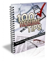100 Resume Tips Private Label Rights