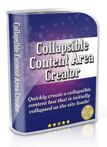 Collapsible Content Area Creator