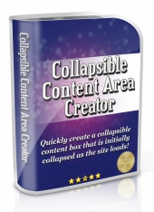 Collapsible Content Area Creator Private Label Rights