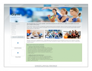 Gym Fitness Templates