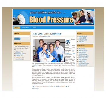 Blood Pressure Templates