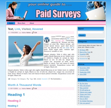 Paid Surveys Templates