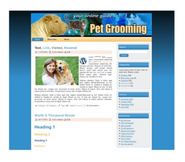 Pet Grooming Templates
