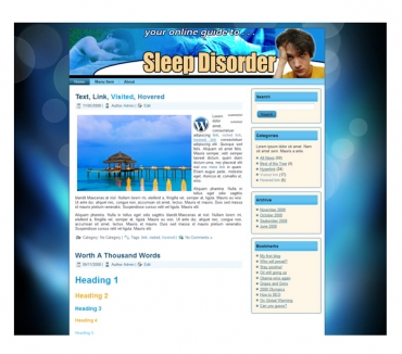 Sleep Disorder Templates