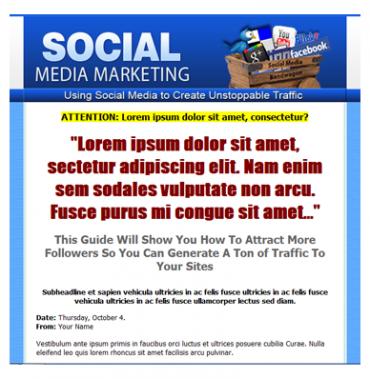 Social Media Marketing Template