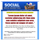 Social Media Marketing Template Private Label Rights