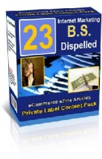 23 Internet Marketing B.S. Dispelled Report Private Label Rights