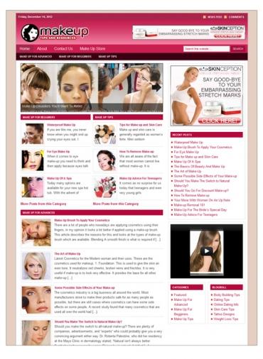 Make Up Niche Blog