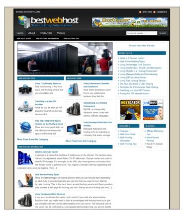 Web Host Niche Blog