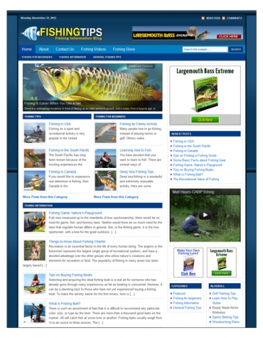 Fishing Niche Blog Package