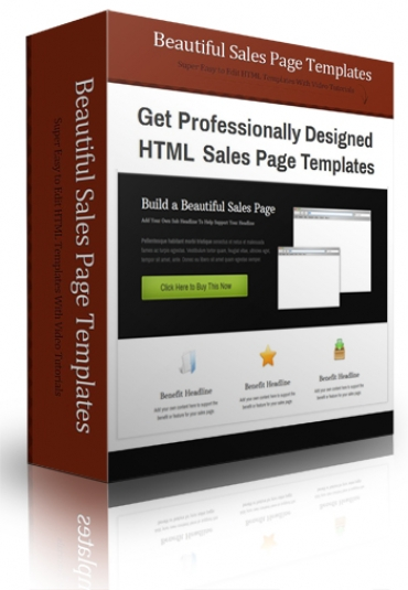 Beautiful Sales Page Templates