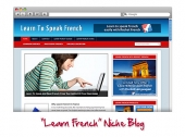 Learn French WordPress Niche Blog Private Label Rights