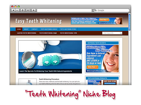 Teeth Whitening WordPress Blog