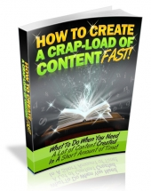 How to Create a Crapload of Content Fast Private Label Rights
