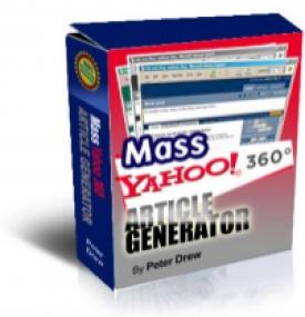 Mass Yahoo! 360 Article Generator