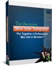 The Amazing Minisite Template Version 3 Private Label Rights