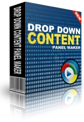 Drop Down Content Panel Maker Private Label Rights