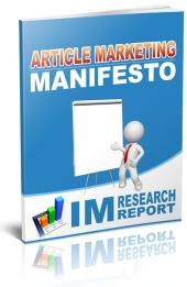 Article Marketing Manifesto Private Label Rights