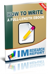 How to Write a Full Length eBook Private Label Rights