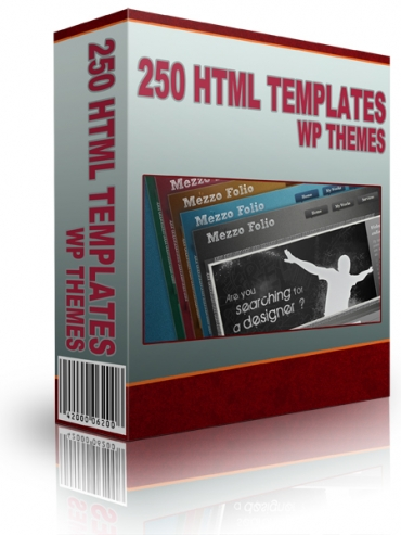 250 HTML Templates WP Themes and Graphics