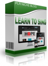 Learn To Sing Niche Blog Private Label Rights