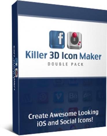 Killer 3D Icon Maker Double Pack