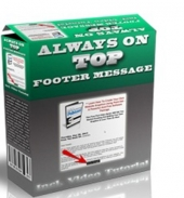 Always On Top Footer Message Private Label Rights