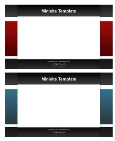 Minisite Templates June 2013