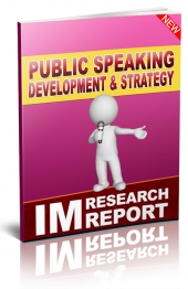 Public Speaking Development and Strategy Private Label Rights