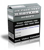 On Page Text Resizer Script Private Label Rights