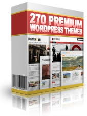 270 Premium WordPress Themes Private Label Rights