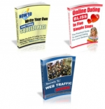 3 PLR eBooks With Unrestricted PLR Private Label Rights