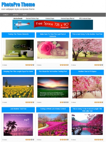 Photopro Wordpress Theme