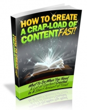 How To Create A Crap Load Of Content Fast Private Label Rights