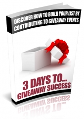 3 Days To Giveaway Success Private Label Rights