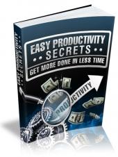 Easy Productivity Secrets Private Label Rights