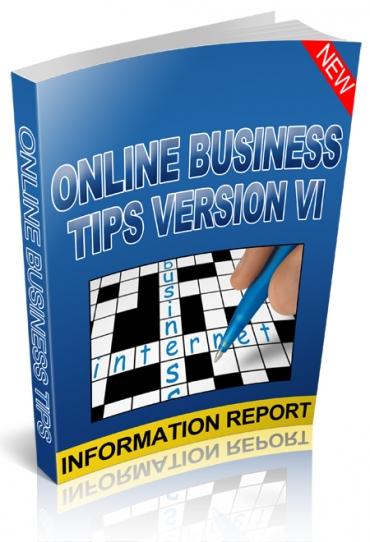 Online Business Tips Version VI
