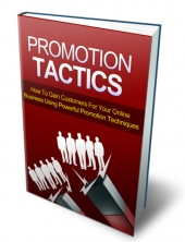 Promotion Tactics 2013 Private Label Rights