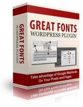 Great Fonts Plugin For WordPress Private Label Rights