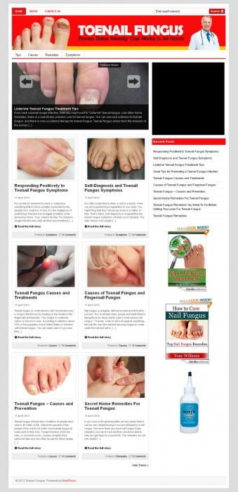 Toenail Fungus PLR Niche Blog