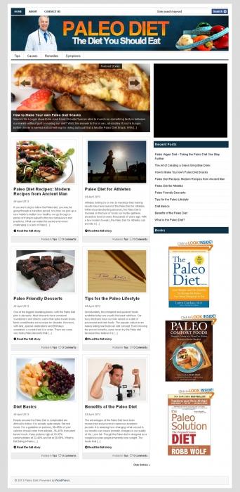 Paleo Diet PLR Niche Blog