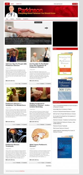 Parkinson PLR Niche Blog