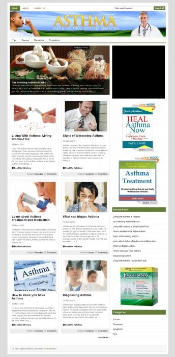 Asthma PLR Niche Blog