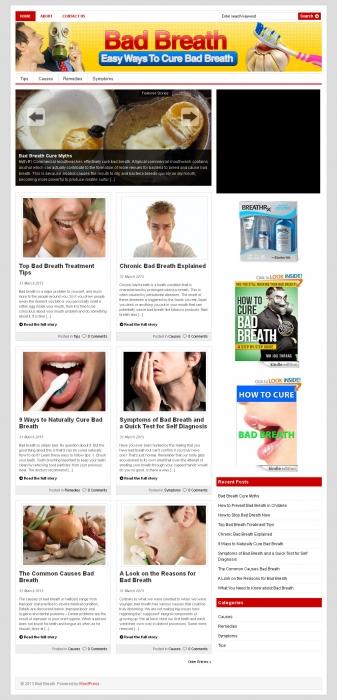 Bad Breath PLR Niche Blog