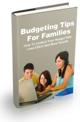 Budgeting Tips For Families Private Label Rights