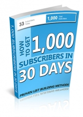 1,000 Subscribers in 30 Days Private Label Rights